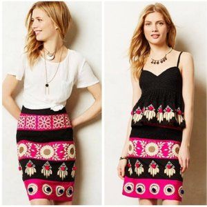 Anthro Leifsdottir Embroidered Catrina Skirt Sz 4P